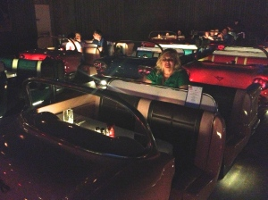 In the back side of our convertible at the Sci Fi Diner in Hollywood Studios, WDW.