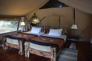 ©Jean Janssen Interior of our tent at Jongamero, Ruaha National Park, Tanzania.