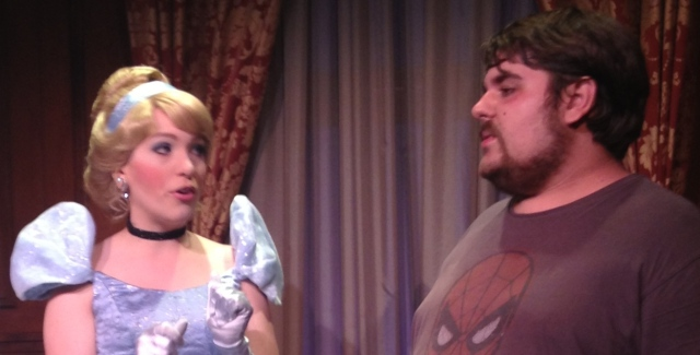 You can even get a fast pass for some interactive time with the characters.  Rocky had quite the conversation with Cinderella.   ©Jean Janssen