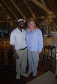 Natasha with her safari guide, Frank.