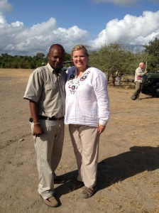 With Zachariah at the air strip just before our departure from Selous.