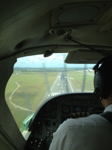 ©Jean Janssen  Landing at the domestic terminal in Dar es Salaam, Tanzania.
