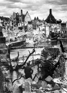 Nuremberg in 1945 after bombing