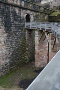 Entrance to Nuremberg Castle, above the deep moat. ©Jean Janssen