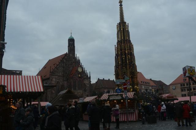 Nuremberg Christmas Market with gated fountain. ©Jean Janssen