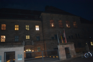 East Wing of the Palace of Justice where Nuremberg Trials were held.  The courtroom is  on the upper floor to the right in the photograph. ©Jean Janssen
