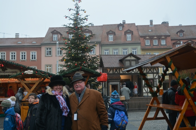 Boris and Natasha in the Christmas Market. Bamberg, Germany