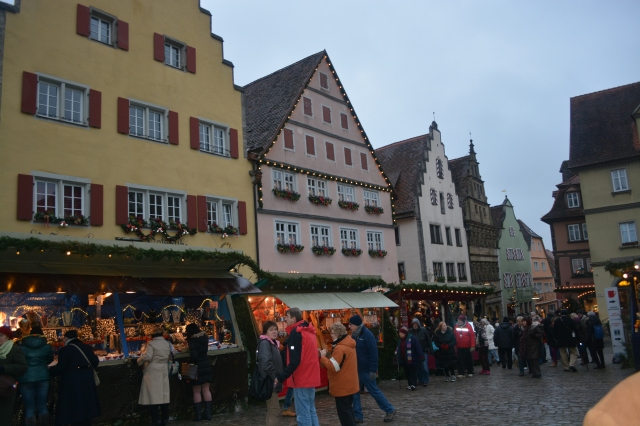 Christmas Market on Marktplatz, Rothenburg, Germany ©Jean Janssen