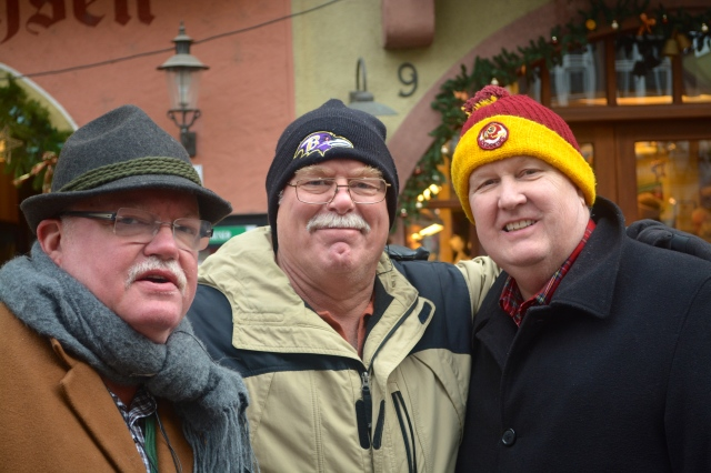 Boris, Frank, and Steve enjoy in the Wertheim Christmas Market ©Jean Janssen