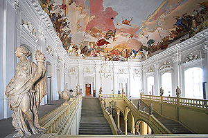 Frescoed ceiling of the Imperial Staircase, The Residence, Wurzburg, Germany