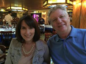 Bob and Jane enjoyed the atomosphere at Lozrenzillo's in the Marina, Cabo San Lucas.