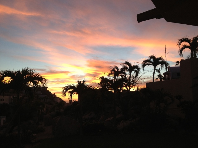A sunrise view from our patio at Villa Descanso. ©Jean Janssen