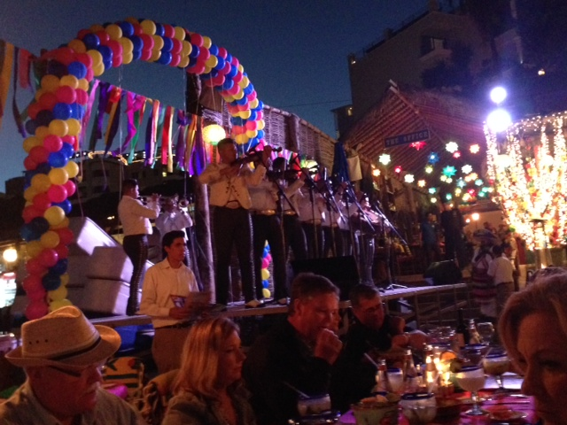 Mariachi band as part of Fiesta Night at The Office in Cabo San Lucas.--photo by Terry Baca.