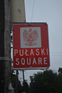Marker at the intersection  of Diamond Ave and Michigan in Grand Rapids acknowledging the Polish heritage in this NE section of GR. ©Jean Janssen
