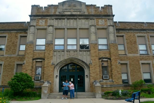Mom's grade school, St. Isidore's on Diamond in NE Grand Rapids. ©Jean Janssen