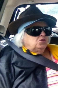 Mom was a little crowded in the back seat and took to wearing multiple hats to conserve space. ©Theodore Crane
