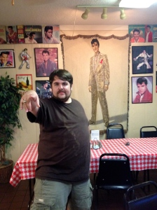 At Big John's Shake Shack in Marion Arkansas.  I once saw Rocky doe a pretty good version of Hound Dog at karaoke.
