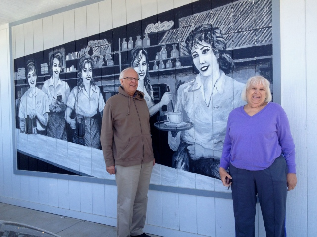 My mom and uncle outside of Anna's House at their original (and recently renovated) Plainfield location in Grand Rapids, Michigan. ©Jean Janssen