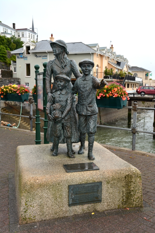 The first immigrant admitted to Ellis Island was a young girl who left from Cobh, Ireland. This statute sits on the passenger dock at Cobh. ©Jean Janssen