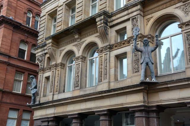 Check out statutes of two of the fab four in this photo. You'll have to make your own visit to Liverpool to see all four.  ©Jean Janssen