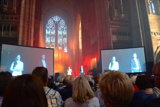 "Performances in the Anglican Cathedral in Liverpool for our ""Azamazing Evening"" ©Jean Janssen"