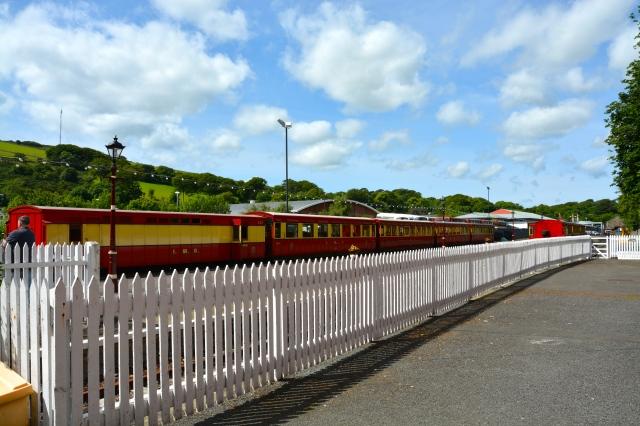 Steam train at the Douglas station, Isle of Man ©Jean Janssen