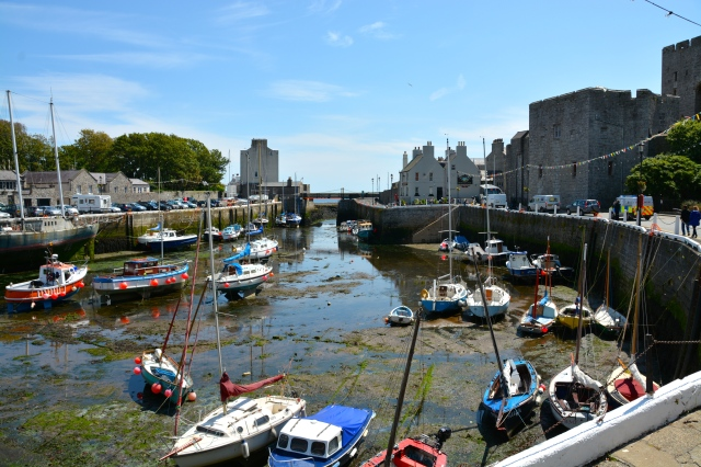 Castletown, the ancient Capital of the Isle or Man.  Castle Rushen is on the right. ©Jean Janssen