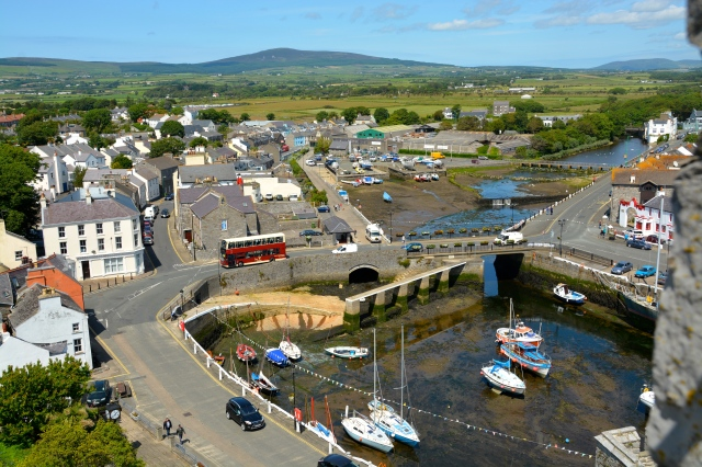 Castletown, Isle of Man, viewed from the top of Castle Rushen ©Jean Janssen
