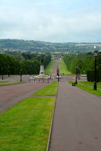 The long approach to the Parliament Buildings, Belfast, Northern Ireland. ©Jean Janssen