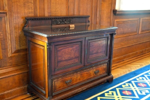 This piece of furniture was intended for Captain Smith on the Titanic but was not completed in time.  It is now in the Reception Hall in Belfast City Hall, Northern Ireland. ©Jean Janssen