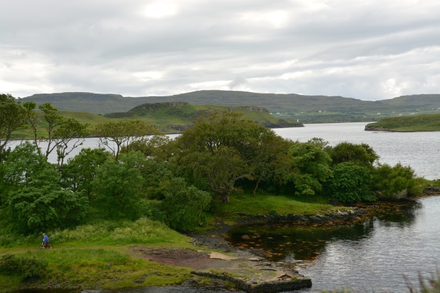 View from Duvegan Castle, Isle of Skye, Scotland.  Seal trip leave from this area. ©Jean Janssen