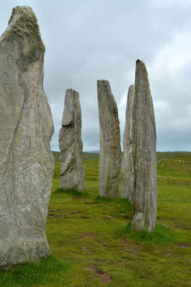 Part of the Calanais Stone Circle on the Isle of Lewis, Scotland ©Jean Janssen