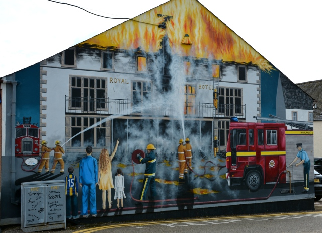 One of the town murals, Invergordon, Scotland ©Jean Janssen