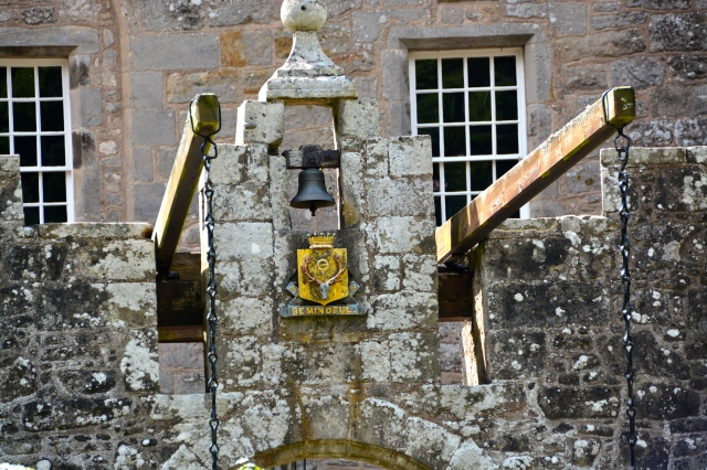 Entrance to the medieval tower of Cawdor Castle.  Note the drawbridge supports. ©Jean Janssen