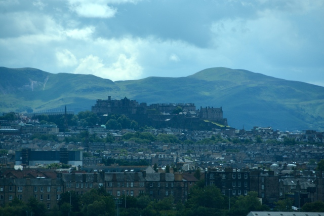 From our ship's berth in Leith, Scotland, you could see Edinburgh Castle ©Jean Janssen