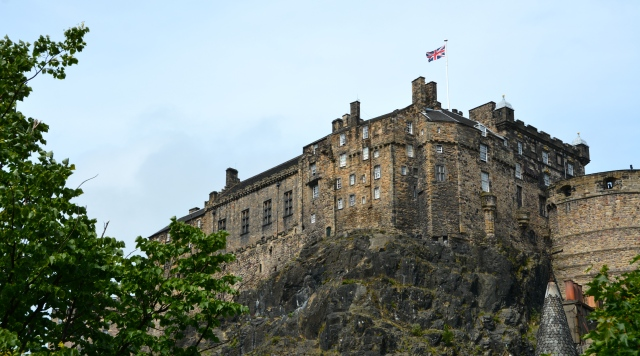 Edinburgh Castle sits atop a cliff in the very center of the Scottish Capital of Edinburgh ©Jean Janssen