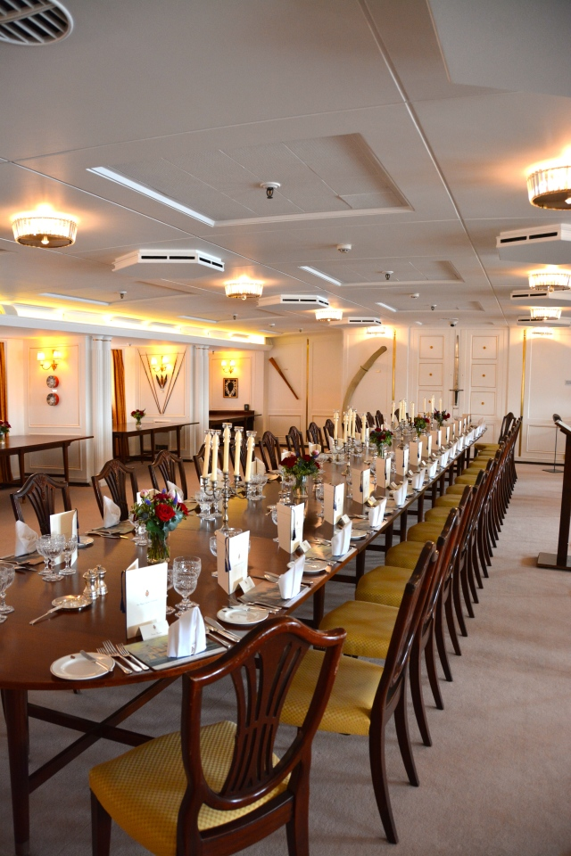 The State Dining Room aboard the Royal Yacht Britannia. ©Jean Janssen