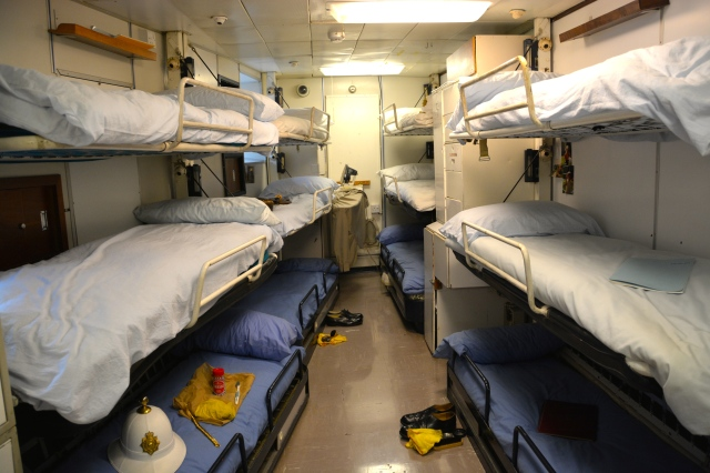 Some of the crew quarters aboard the Royal Yacht Britannia ©Jean Janssen