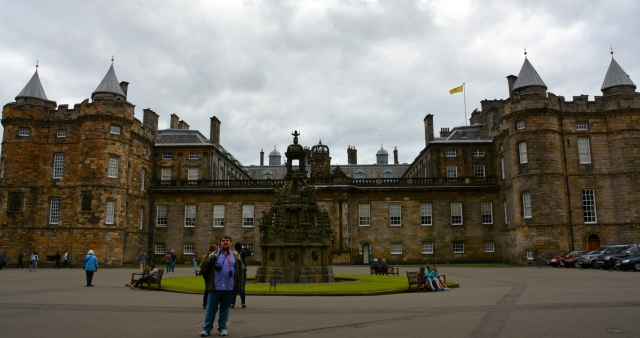 The Palace of Holyroodhouse, Edinburgh, Scotland.  The original medieval tower is on the left side. ©Jean Janssen