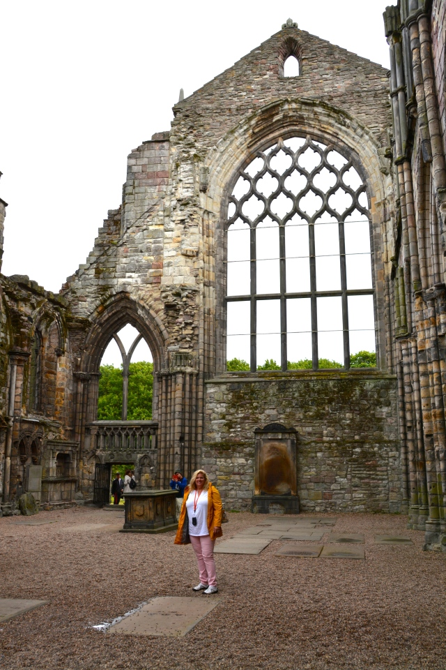Natasha at the ruins of Holyrood Abbey, Edinburgh, Scotland ©Theodore Crane