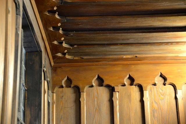 Woodwork detail inside Marksburg Castle, Germany ©Jean Janssen