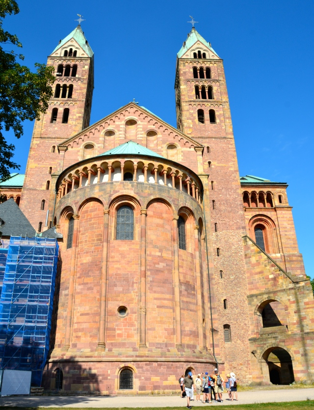 Eastern facade of Speyer Cathedral, Speyer, Germany. Note the wonderful encircling gallery. ©Jean Janssen