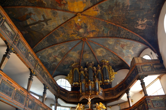Although the city is famous for its Romanesque Cathedral, I was partial to the painted paneling in Trinity Lutheran Church in Speyer, Germany ©Jean Janssen