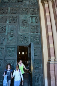 The great bronze doors of Speyer Imperial Cathedral, Germany ©Jean Janssen