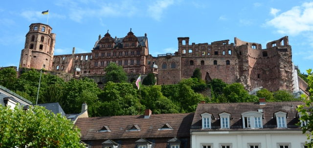 Heidelberg Castle viewed from the old town below. Heidelberg, Germany ©Jean Janssen