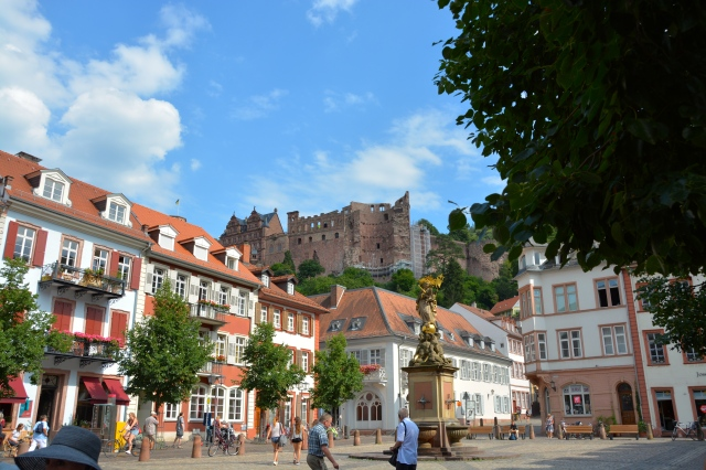 View of Heidelberg Castle from Corn Market, Heidedlberg, Germany ©Jean Janssen