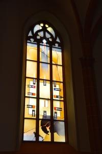 Stained Glass Window in Chapel on Heidelberg University Campus, Heidelberg, Germany ©Jean Janssen