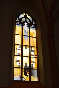 Stained Glass Window in Chapel on Heidelberg University Campus, Heidelberg, Germany ©Jean Janssen