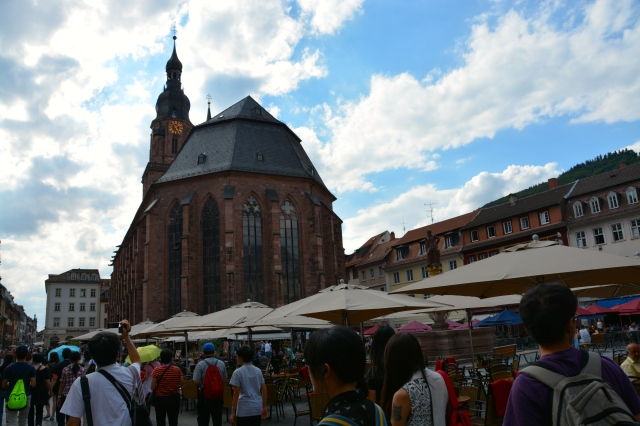 Church of the Holy Spirit and Market Square, Heidelberg, Germany ©Jean Janssen