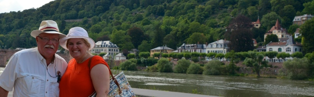 Boris and Natasha along the Neckar River, Heidelberg, Germany
